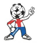 Novelty FOOTBALL HEAD MAN With St Georges Cross England Flag Motif For Football Soccer Team Supporter Vinyl Car Sticker 100x85mm